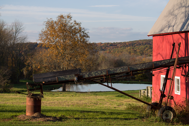 Red Barn on an Autumn Day by CheeseStorm