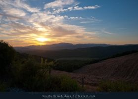 Sunset over Tuscan Hills by kuschelirmel-stock