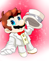Mario's wedding clothe by GeekytheMariotaku