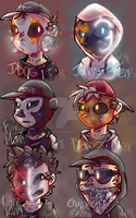 Hollywood Undead Notes From the Underground Masks by MoonlightDaUmbreon