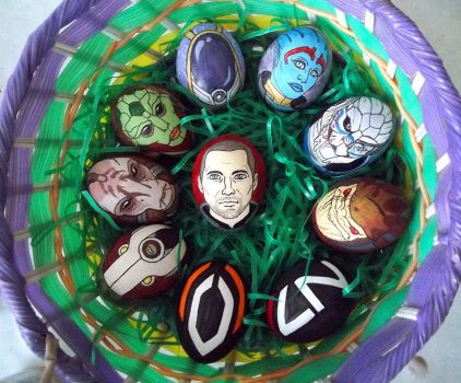 Mass Effect Eggs by Red-Flare