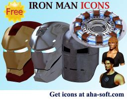 Iron Man Icons by aha-soft-icons
