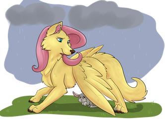 FlutterWolf by AnnaKitsun3