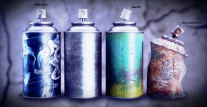 Spray Cans by djreko