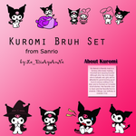 kuromi brush set by jenovad