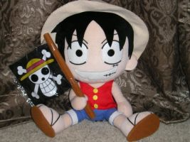 Luffy Plushie by AnimeArtist10