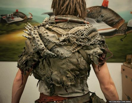 Wasteland Barbarian Outfit (back view) by NuclearSnailStudios