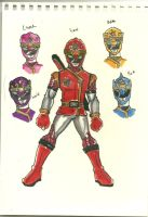 flower/animal sentai by buddyfrank