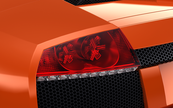 Lamborghini Murcielago Roadster Tail light by Juvenile22