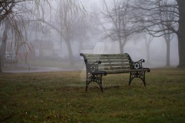 A Bench in the Fog by kenjis9965