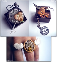 Steampunk Stuff- Key, Moon, Wings by SteamBerry