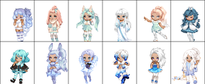 Winterish Gaia Adopts by MissCotter