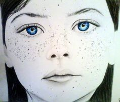 Blue eyes and freckles by JessicaJMiller