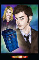 Him, her and the TARDIS. by ScarletMoonbeam