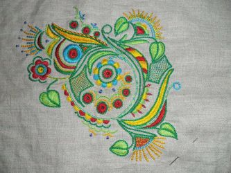 Traditional Embroidery from Brettany by MeeYungCreations