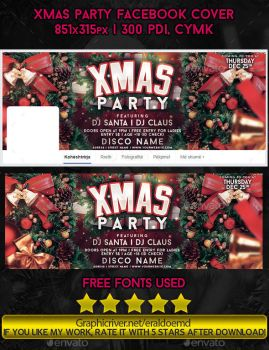 Xmas Party Facebook Timeline Cover PSD by EmDesignEmd