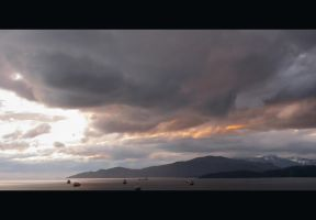 English Bay Sunset... by DTherien