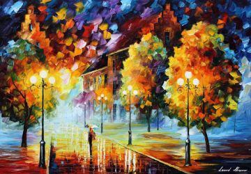 City Sleeps by Leonid Afremov by Leonidafremov