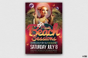 Beach Night Sessions Flyer Template by Thats-Design