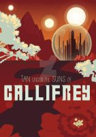 Doctor Who: Gallifrey Travel Poster by Pepperoonie