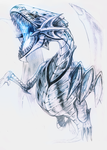 Blue Eyes White Dragon by Ink-Leviathan