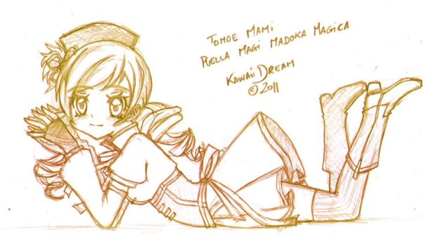 Tomoe Mami Pencil Sketch by Kawaii-Dream