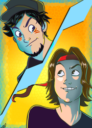 GAME GRUMPS VS by khghibli