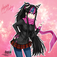 [Super Danganronpa 2:] Happy Bday Ibuki by AquaLeonhart