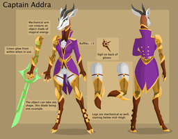 Captain Addra refsheet by PhidippusOfMystery