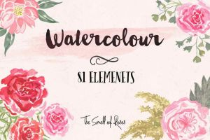 Watercolour Brushes - The Smell of Roses by thesmellofroses
