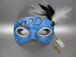 Alice In Wonderland themed Alice Masquerade Mask by maskedzone