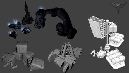Various enviroment models from cancelled game. by Nyctaeus
