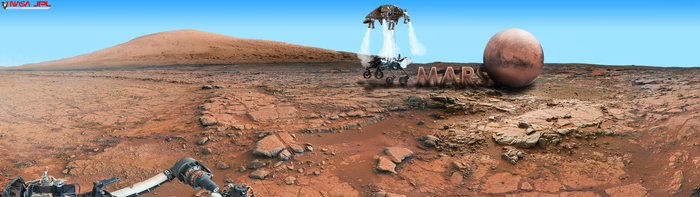 Mars Wallpaper Curiosity Rover Dual Monitor 2 by foxgguy2001