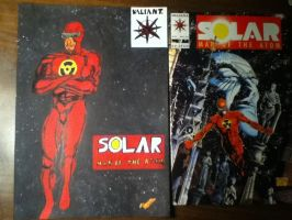 Valiant Comics Solar Man of the Atom Drawing by MIZTER-ROOTBEER