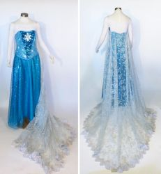 Snow Queen Cosplay Costume by glimmerwood