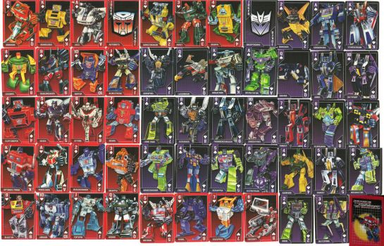 Transformers Playing Cards Deck of 54 by PerceptorsFembot