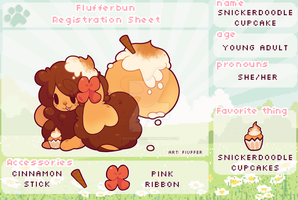 Snickerdoodle Cupcake Registration Sheet by Rockzillahh
