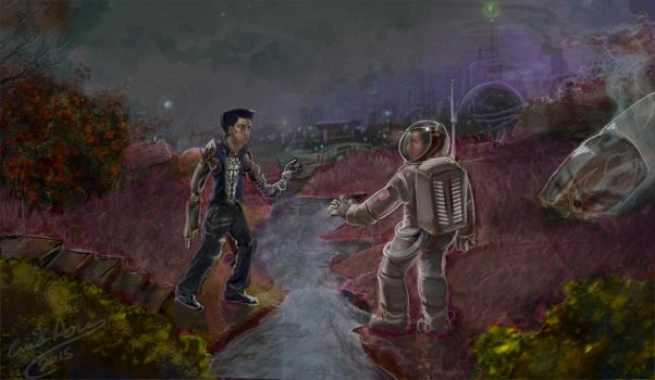 First Contact by Daroneasa
