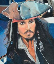 Johnny Depp as Captain Jack Sparrow by EclepticGears