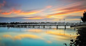 Reflections of a Jetty by MarkLucey