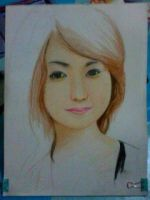 2014 Drawing - Wip of Ms. Sharmaine :) by nielopena