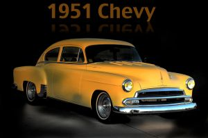 Yellow Chevy by MidagePhotographer