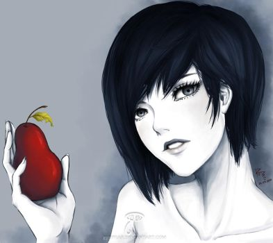 The Woman and The Red Pear by RedPear