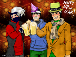 8 days of KakaGai  Day 7 New years by Ynnep