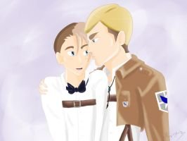 AT - Leon and Erwin by MagicaShark