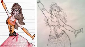 Pirate Maiden - Redraw by silverwing66