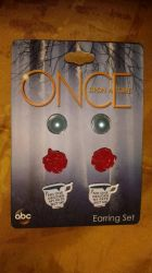 Once upon a time Belle earrings  by Lokifan18