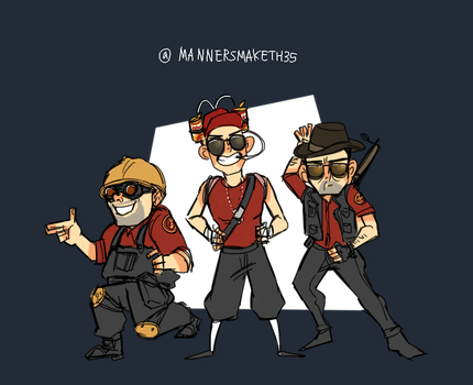 Team fortress2 friends by 35THESTRANGE