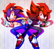 Sonic and Shadow. by ChaoticMegz