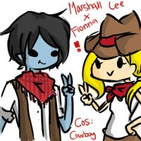 Marshall lee and Fiona cowboy by JAYXLE
